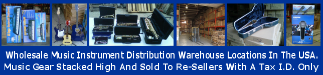 Huge wholesale music instrument distributors